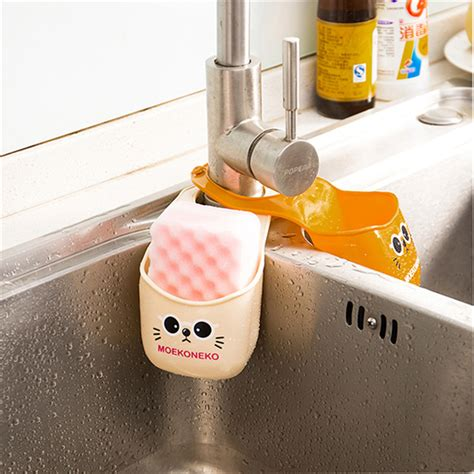Kitchen Sink Sponge Holder kitchen sponge holder cheap pvc cat faucet hanging