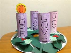 Just print color cut and assemble your own advent wreath then