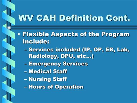 swing bed hospital definition ppt critical access hospitals powerpoint presentation