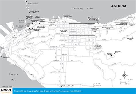 map astoria oregon travel maps of oregon moon travel guides