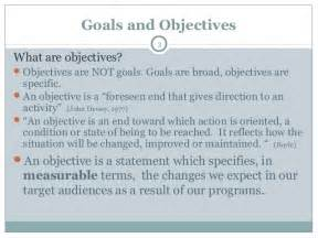 Goal And Objective Statements Writing Measurable Objectives