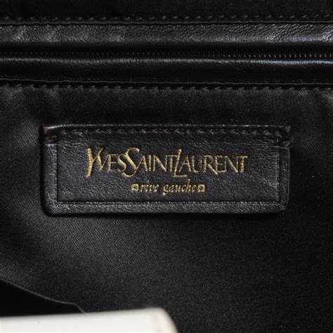 clutch phyton cpb 60115 yves laurent canvas handle bag how to spot a