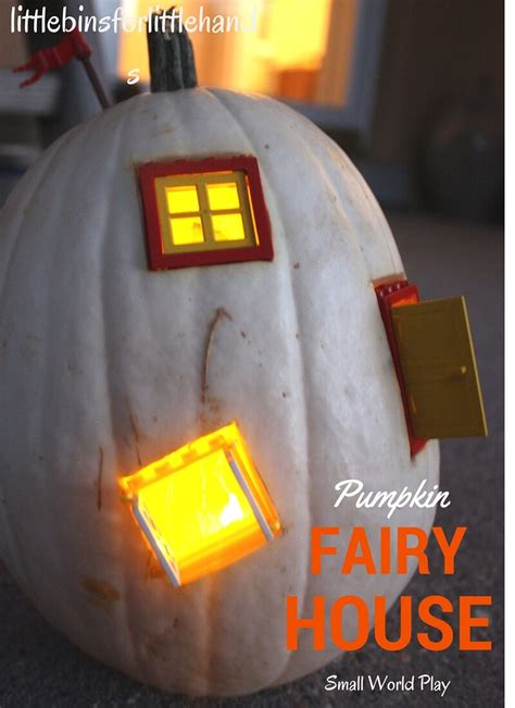 light  white pumpkin fairy house  lego  kids