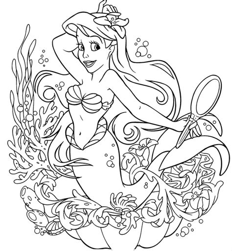 free coloring pages of princess ariel