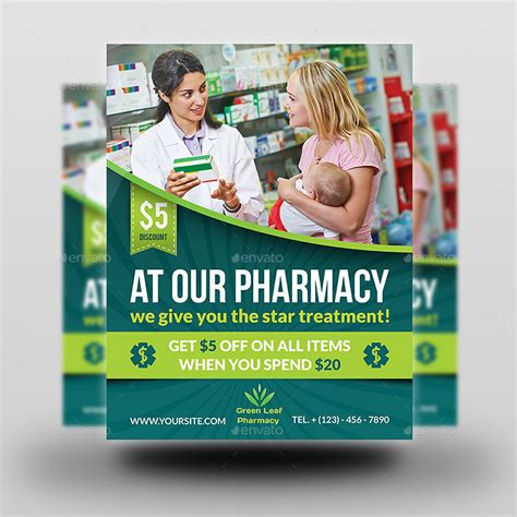 Pharmacy Flyer Template Vol 3 By Owpictures Graphicriver Pharmacy Flyer Template
