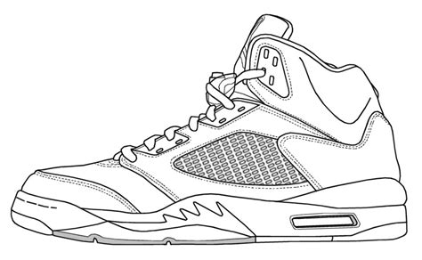 Luxury Jordan Coloring Pages 88 For Your Free Coloring Air 5 Coloring Page