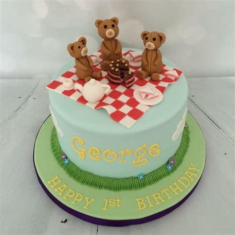 teddybears picnic st birthday cake