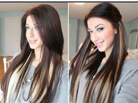 blonde hair highlights with dark brown underneath pictures peek a boo highlights hair makeup pinterest
