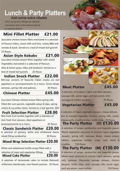 hedleys party menus buffet catering sandwich bar