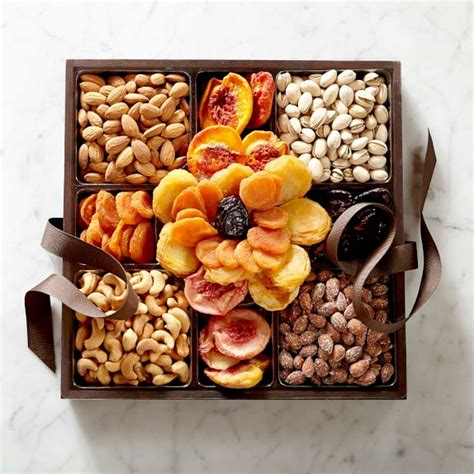 fruit gift boxes dried fruit nut flower gift box williams sonoma