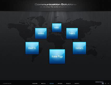 Communication Dynamic Flash Template Dynamic Flash Website Templates Free