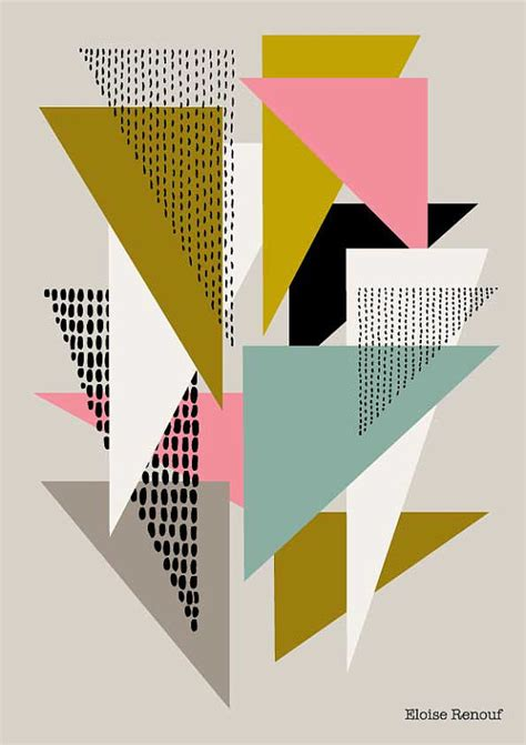 Topi Shape Simple Design simple shapes no4 open edition giclee print by