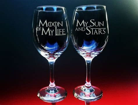 game of thrones wine glasses game of thrones glass etched glass moon and stars text