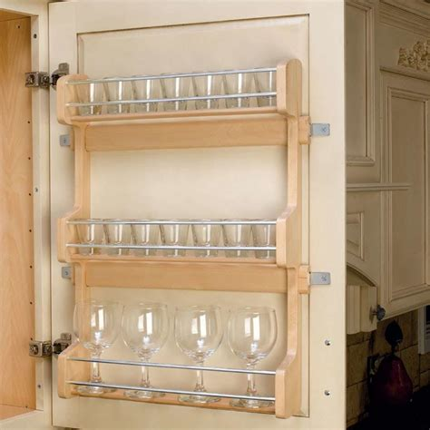 spice organizers for kitchen cabinets rev a shelf door mount spice rack 21 quot wood 4sr 21