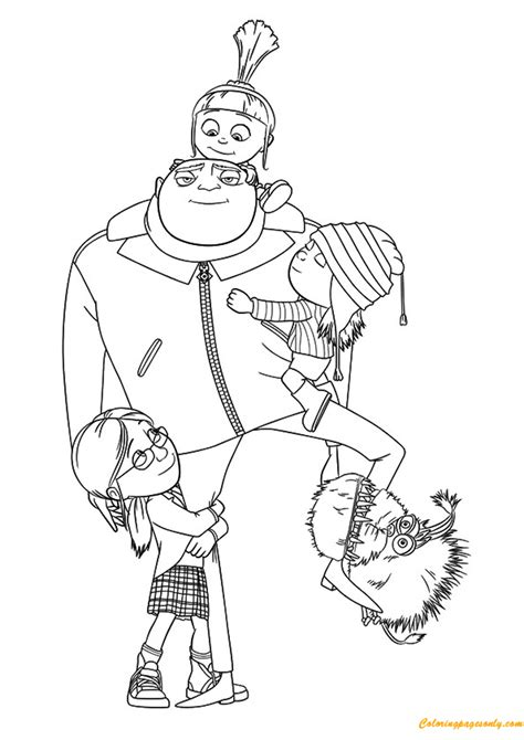 a despicable me coloring page free coloring pages online
