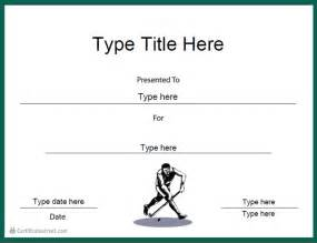 Hockey Certificate Templates by Certificate Free Award Certificate Templates No