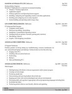 Application Support Engineer Sle Resume by Resume Desktop Support Engineer