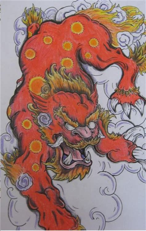 oriental tattoo flash art japanese foo dog by tydistus on deviantart