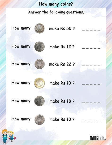 Grade 4 Money Worksheets by Currency Grade 2 Math Worksheets