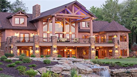 luxury log home interiors luxury log home hybrid log home