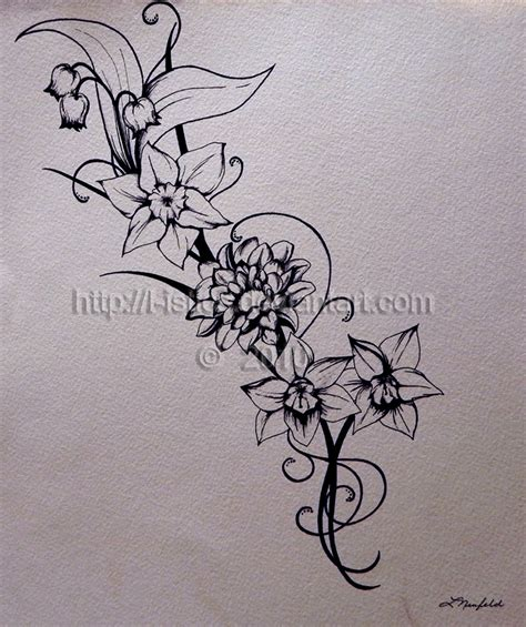narcissus flower tattoo designs narcissus flower tattoos on