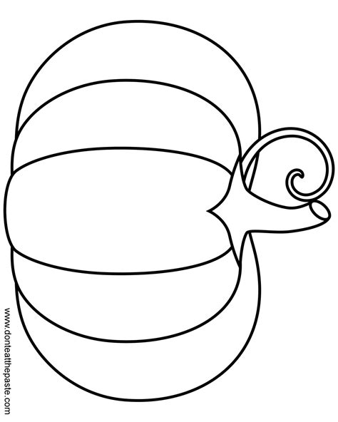 printable pumpkin template free coloring pages