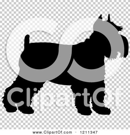 clipart   black silhouetted schnauzer dog  profile