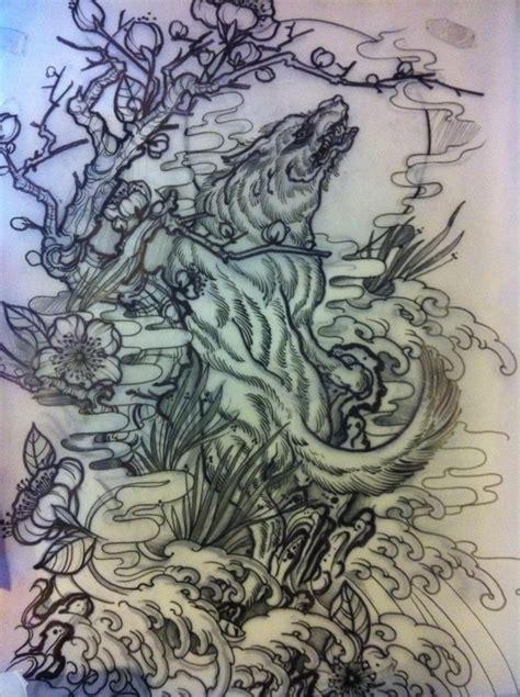 wolf tattoo design by smythy93 on deviantart