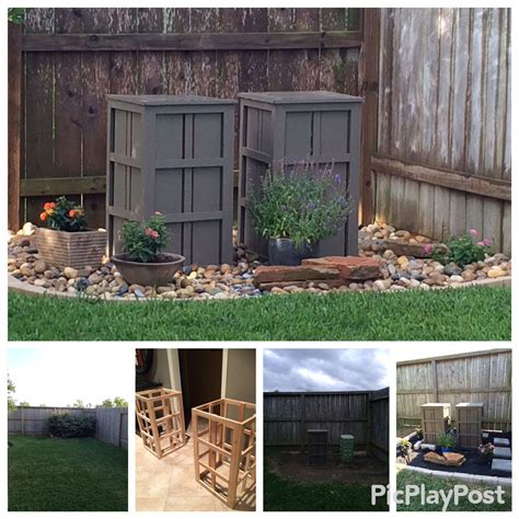 decorative utility box covers diy cover utility boxes in your yard diy crafty