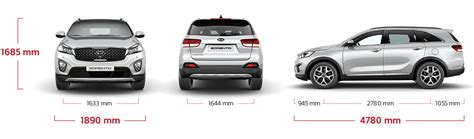 Kia Sorento Width Kia Sorento Specifications Features Kia Motors Uk