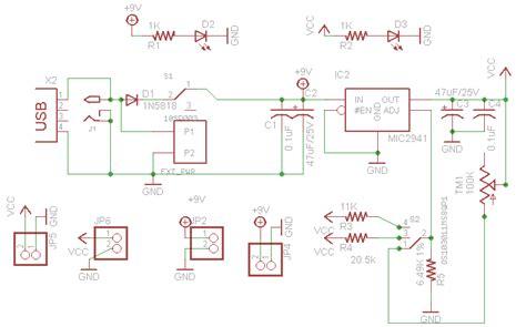 breadboard circuit design low dropout adjustable breadboard power supply
