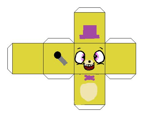 Paper Cube Craft - fredbear cube papercraft by kero1395 on deviantart