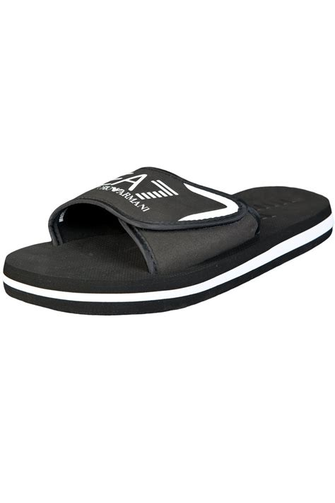 armani slippers ea7 by emporio armani s summer slippers black
