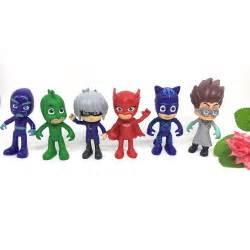 cute pj masks characters catboy owlette gekko cloak action figure toys 6pcs kit ebay