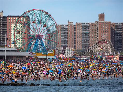 coney island coney island closed after sharks spotted to shore