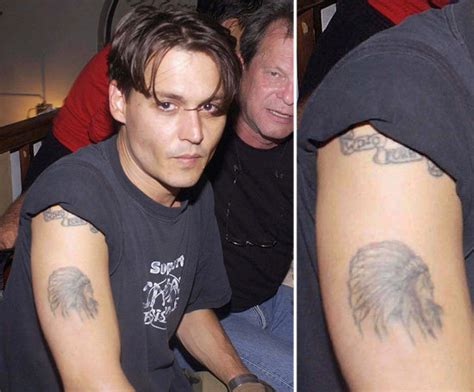 johnny depp winona ryder tattoo photos of who tattoos popsugar