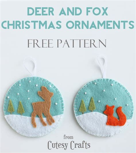 Handmade Felt Craft Patterns - 25 unique felt ornaments patterns ideas on