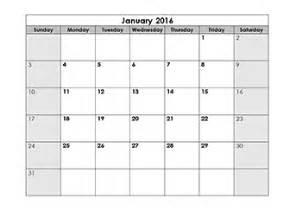 blank calendar 2016 template free printable blank