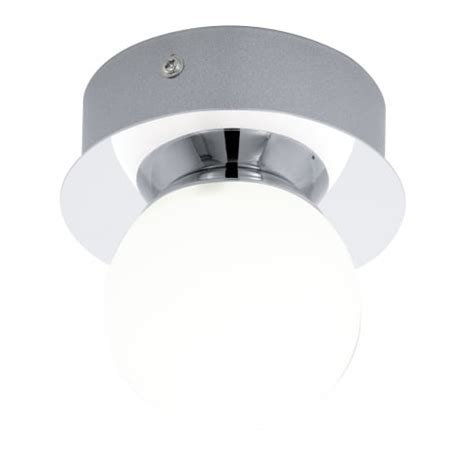 led flush fitting bathroom ceiling light opal glass with chrome ring eglo lighting mosiano single light flush bathroom ceiling fitting in polished chrome and opal
