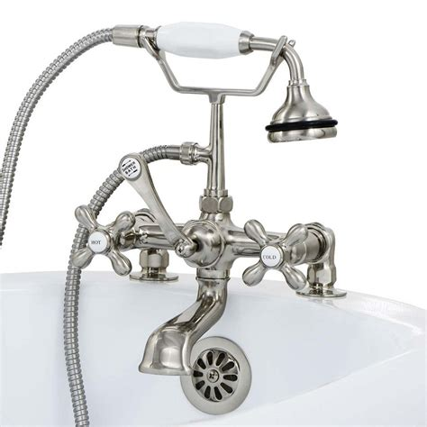 special clawfoot tub faucet with shower diverter the