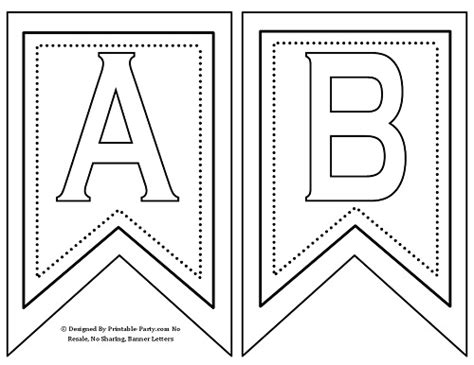 alphabet letter templates for banners 7 best images of printable banners templates free free