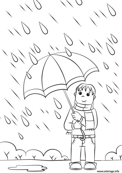 Coloriage Rainy Day Automne dessin