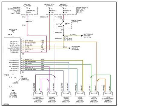 1999 dodge dakota radio wiring diagram wiring forums