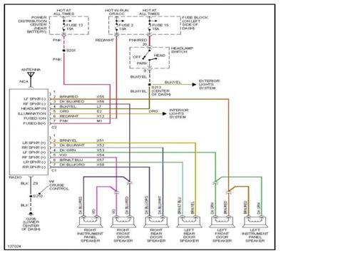 dodge dakota radio wiring diagram wiring forums