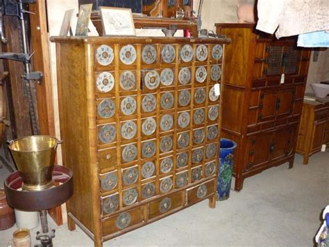 Antique Chinese Medicine Cabinet 52 Drawers   Hermitage