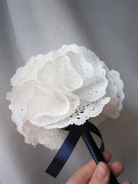 Paper Doilies Crafts - practically paper doily bouquet by myhaleygirl on