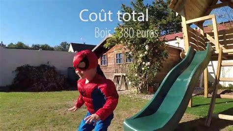 Cabane Avec Toboggan 4509 by Construction D Une Cabane En Bois Avec Un Toboggan