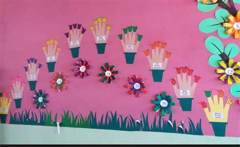 membuat hiasan dinding tk dekorasi bunga bunga bergambar angka dunia belajar anak