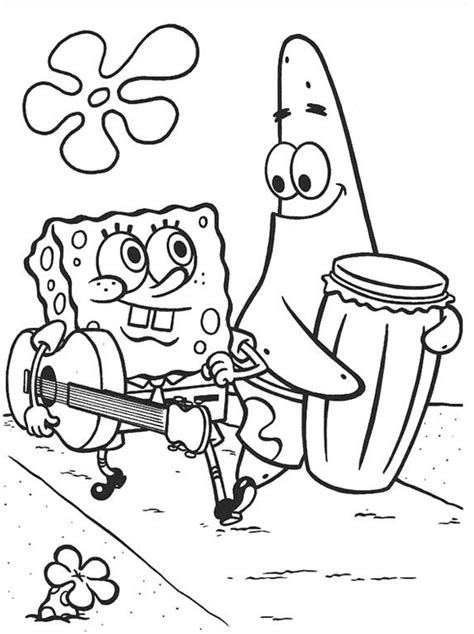 spongebob coloring pages color 16 image colorings net