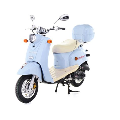 light blue electric scooter 50cc scooter buy direct bikes retro 50cc scooters light blue